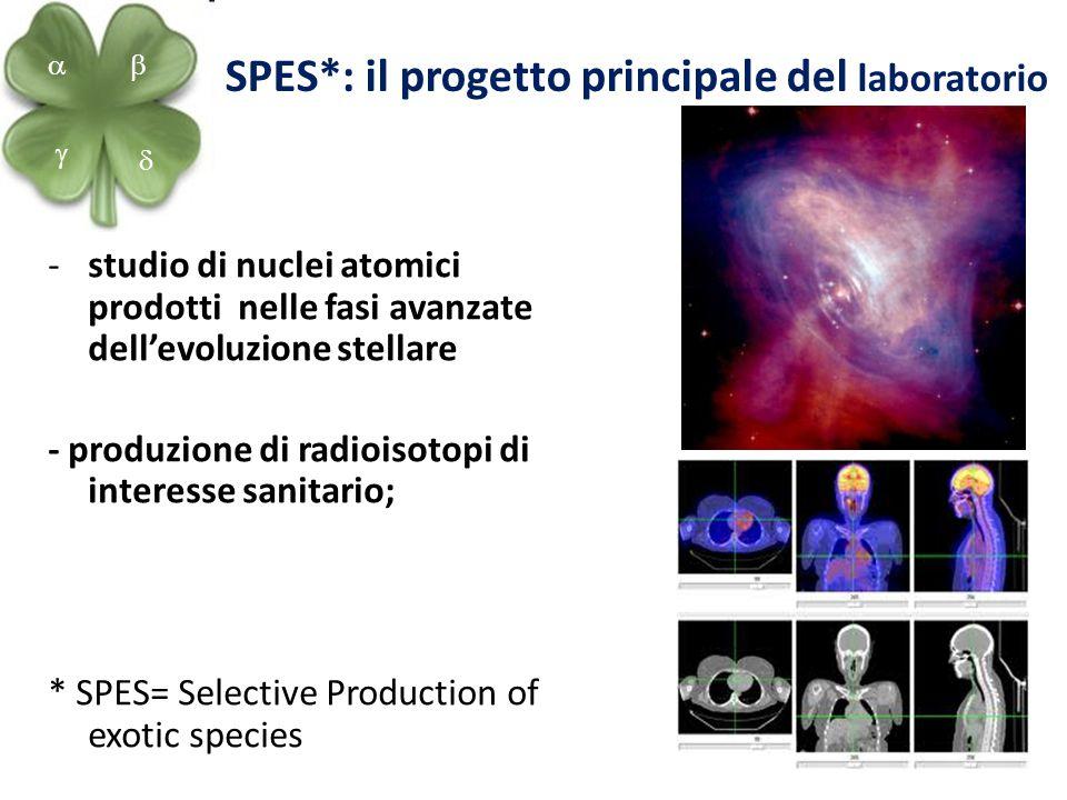 9 SPES*: il progetto principale del laboratorio -studio di nuclei atomici prodotti nelle fasi avanzate dell'evoluzione stellare - produzione di radioi