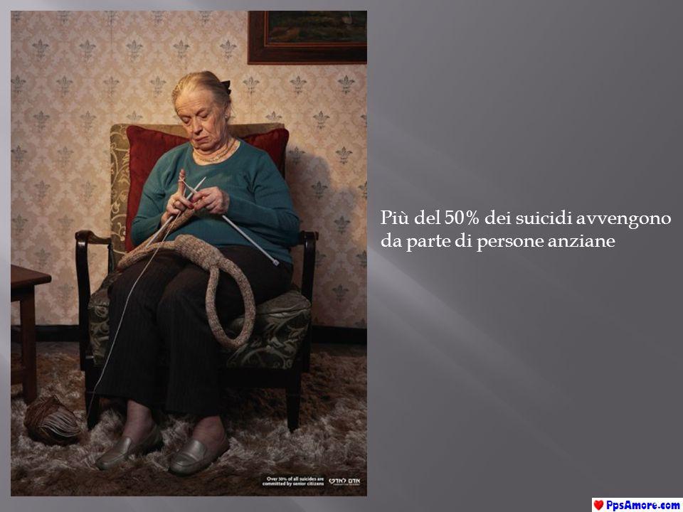 Più del 50% dei suicidi avvengono da parte di persone anziane