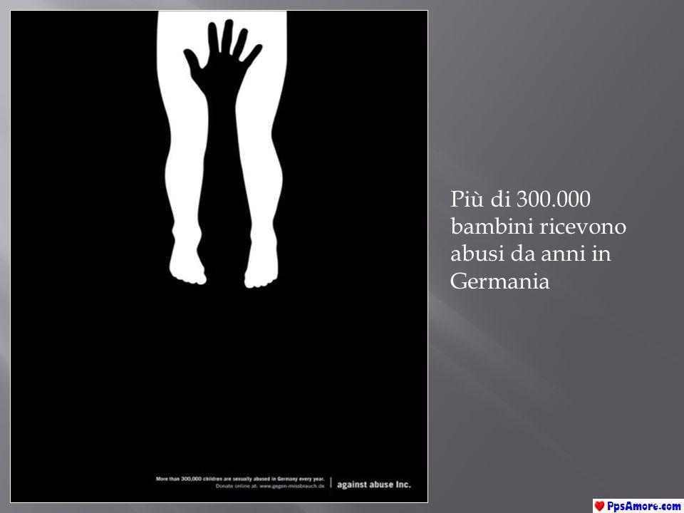 Più di 300.000 bambini ricevono abusi da anni in Germania
