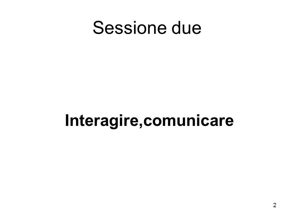 2 Sessione due Interagire,comunicare
