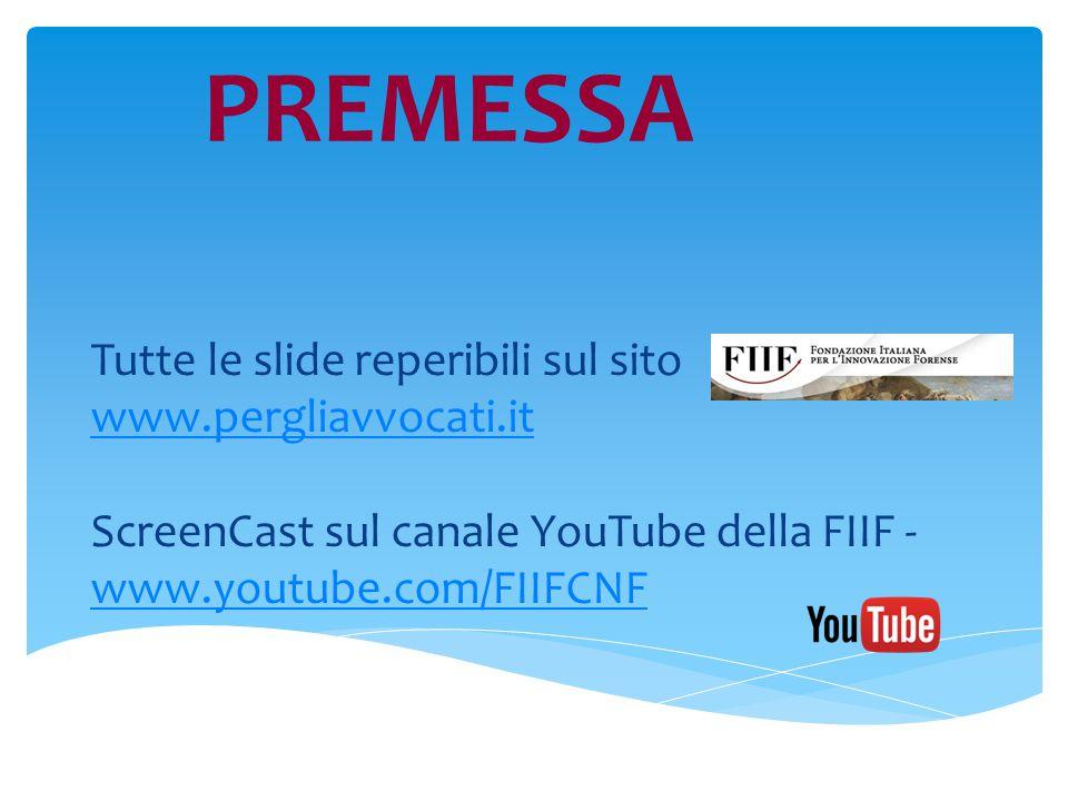 sul sito pst.giustizia.it previa autenticazione Video tutorial sul canale YouTube della FIIF www.youtube.com/FIIFCNF oppure liberamente dal sito www.inipec.gov.it Per n.