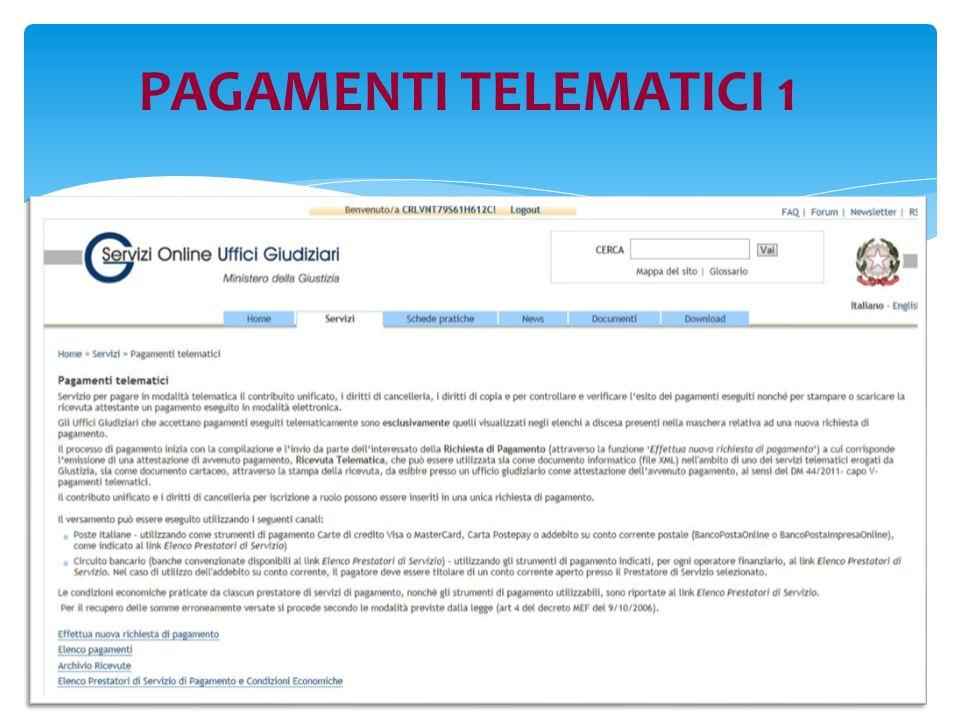 PAGAMENTI TELEMATICI 1