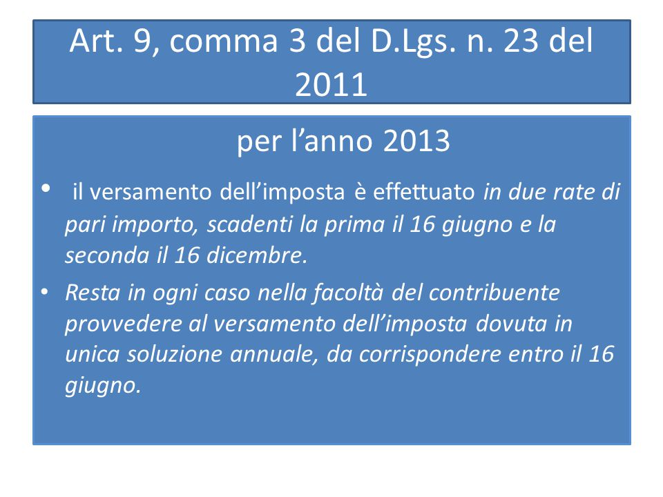 Art. 9, comma 3 del D.Lgs. n.
