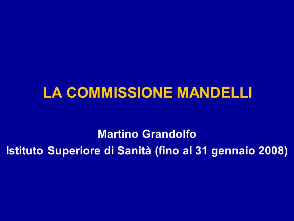LA COMMISSIONE MANDELLI Martino Grandolfo Istituto Superiore di Sanità (fino al 31 gennaio 2008)