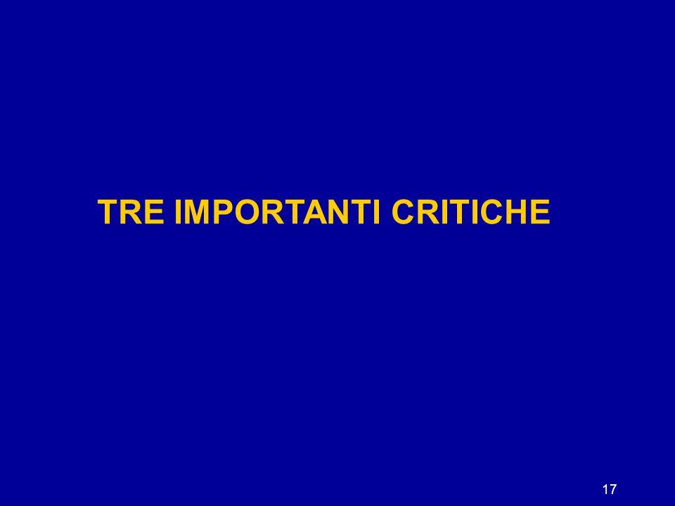 17 TRE IMPORTANTI CRITICHE
