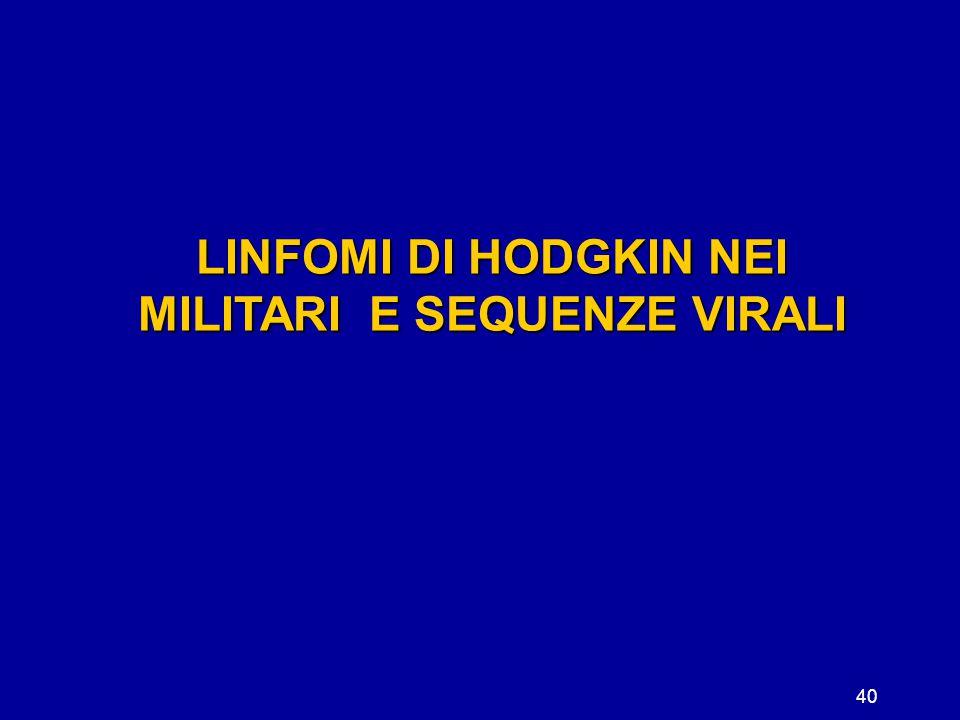40 LINFOMI DI HODGKIN NEI MILITARI E SEQUENZE VIRALI
