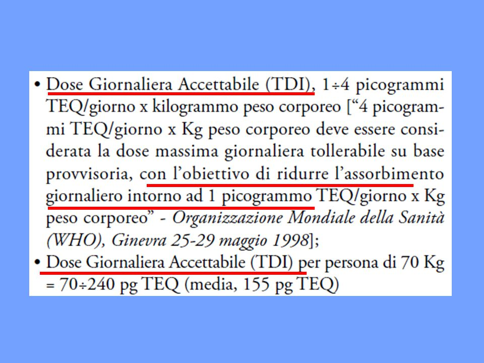 35 Commissione Europea, DG Ambiente Compilation of EU exposure and health data (oct.