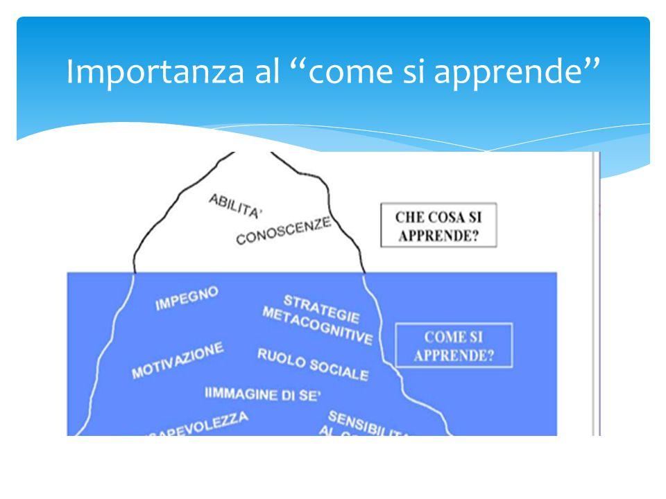 """Importanza al """"come si apprende"""""""