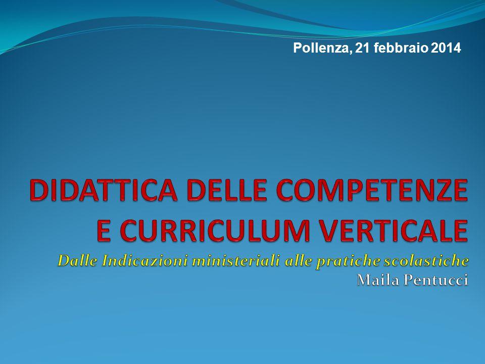 DI COSA PARLEREMO Il curriculum secondo le Indicazioni Come riflettere sul curriculum Discipline e curriculum Verticalizzare 2.