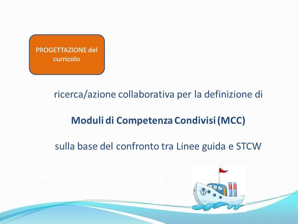 ricerca/azione collaborativa per la definizione di Moduli di Competenza Condivisi (MCC) sulla base del confronto tra Linee guida e STCW PROGETTAZIONE