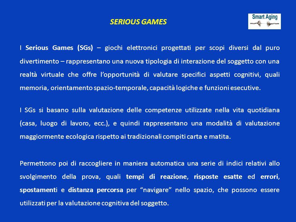 SERIOUS GAMES I Serious Games (SGs) – giochi elettronici progettati per scopi diversi dal puro divertimento – rappresentano una nuova tipologia di int