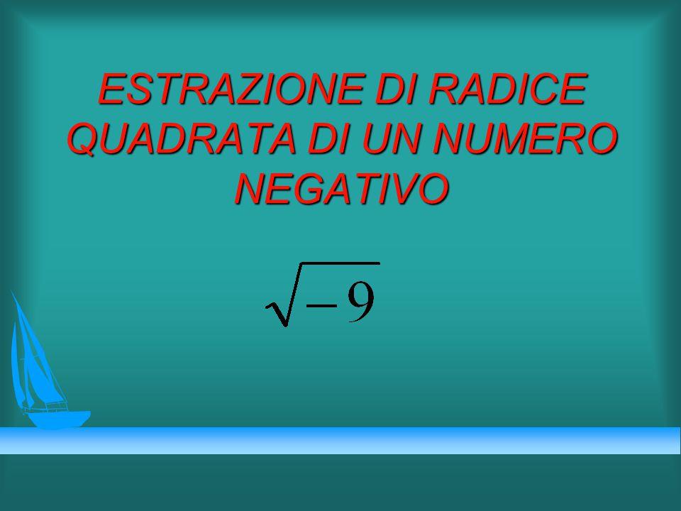 Matematicamente si può: u decidere che tale calcolo non interessa u creare un insieme di numeri in cui tale calcolo si può eseguire