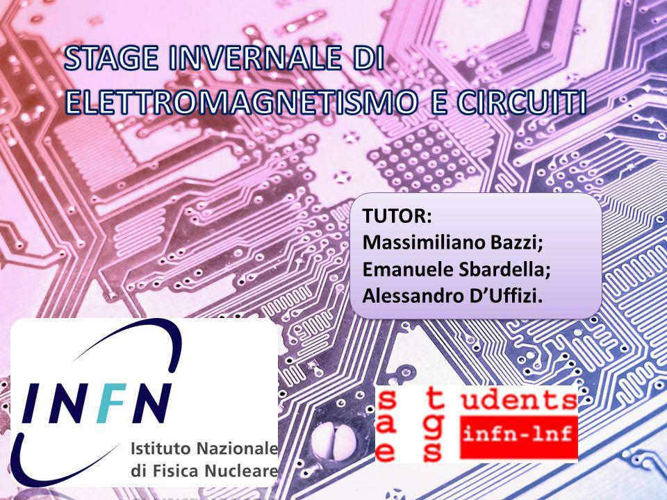 TUTOR: Massimiliano Bazzi; Emanuele Sbardella; Alessandro D'Uffizi.