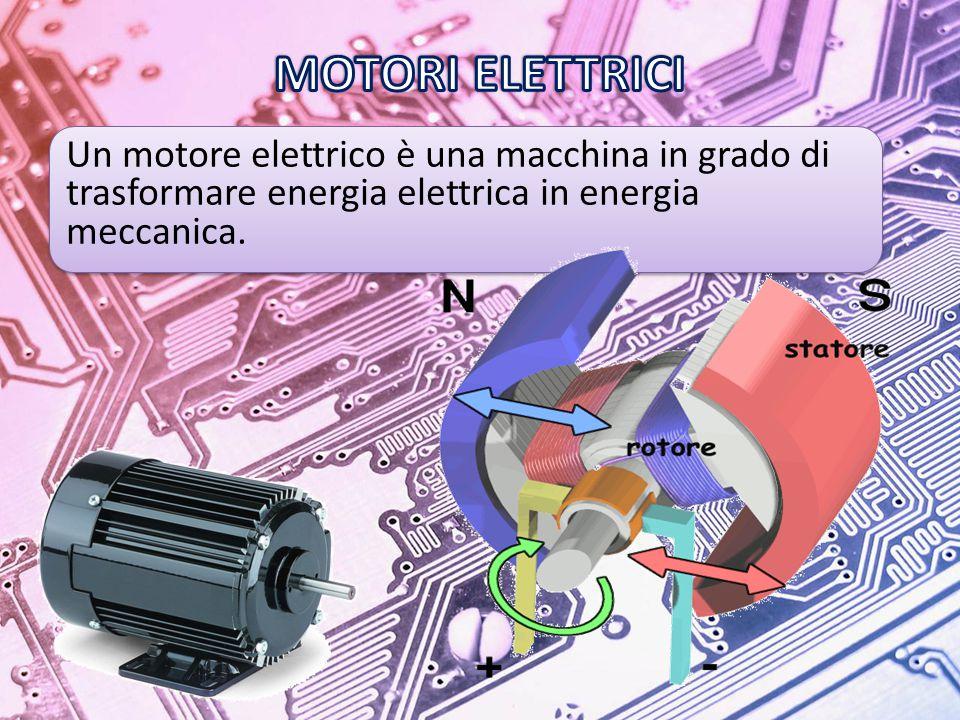 Un motore elettrico è una macchina in grado di trasformare energia elettrica in energia meccanica.