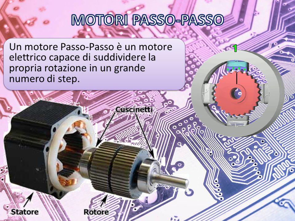 Un motore Passo-Passo è un motore elettrico capace di suddividere la propria rotazione in un grande numero di step.