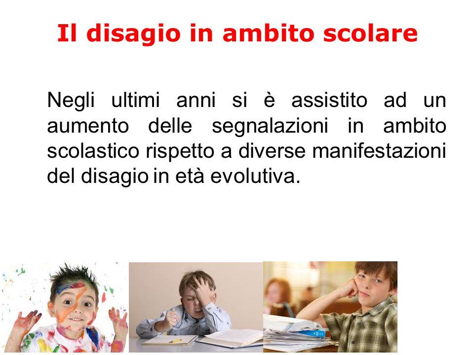 Il disagio scolastico I disturbi più frequenti durante gli anni delle scuole primarie e secondarie Rendimento scolastico DISTURBI DEL COMPORTAMENTO