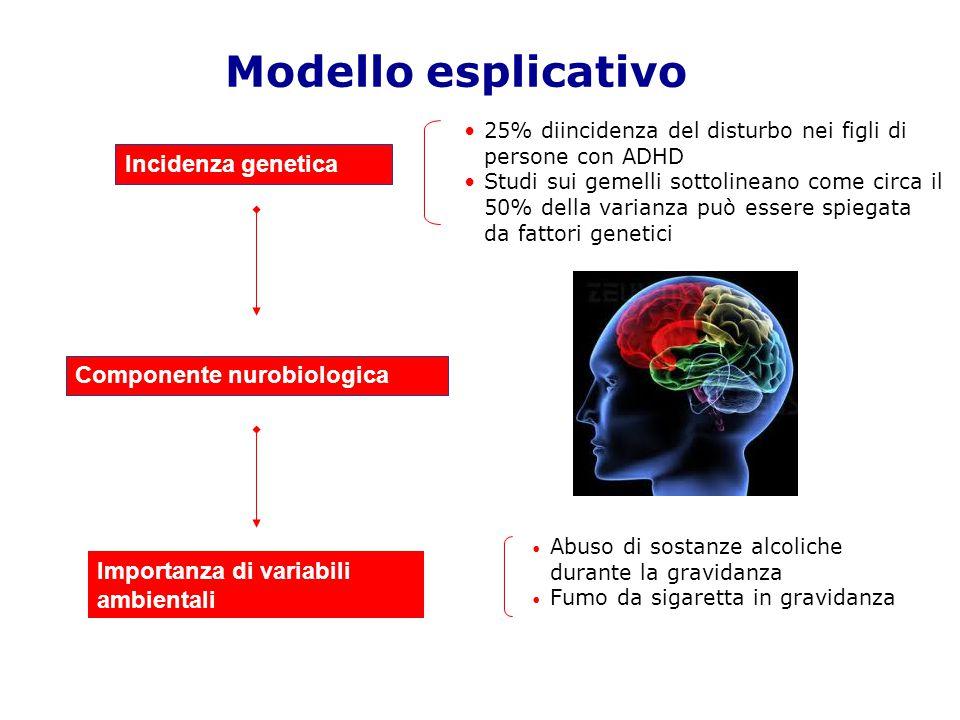 Modello esplicativo Incidenza genetica Componente nurobiologica Importanza di variabili ambientali Abuso di sostanze alcoliche durante la gravidanza F