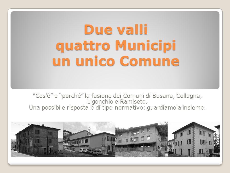 La fusione nell'ordinamento italiano è l' Unione di due o più Comuni contigui .