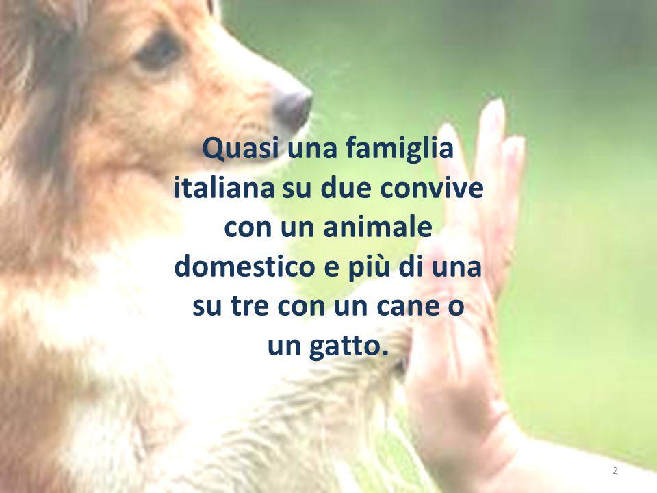 2 Quasi una famiglia italiana su due convive con un animale domestico e più di una su tre con un cane o un gatto.