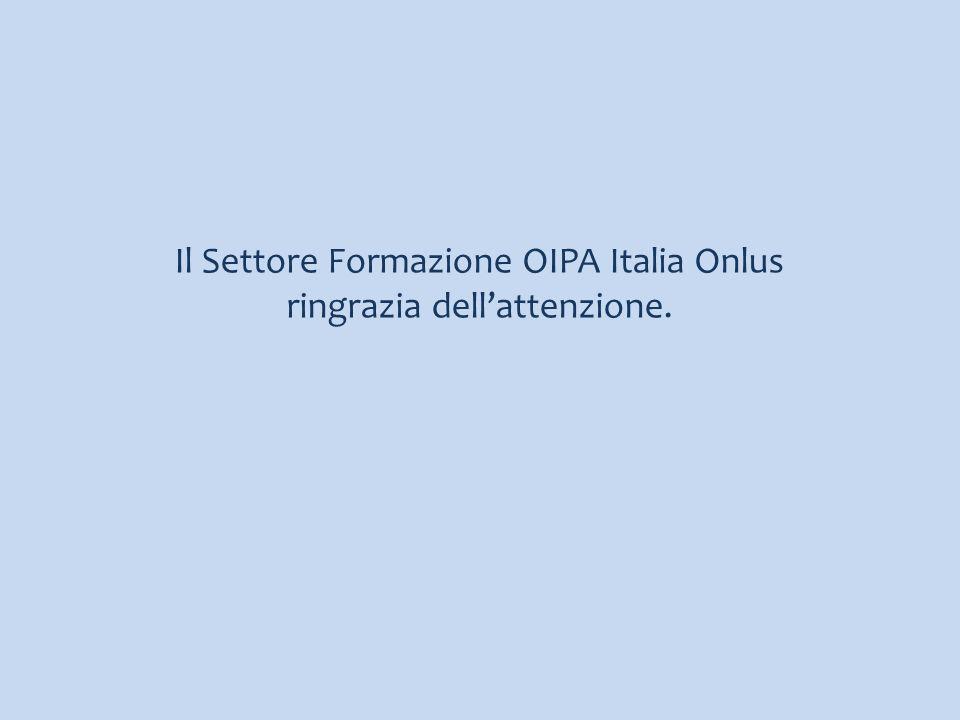 Il Settore Formazione OIPA Italia Onlus ringrazia dell'attenzione.