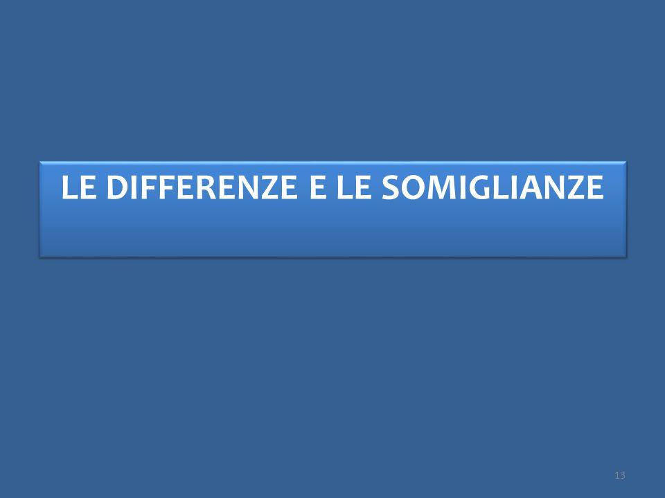 LE DIFFERENZE E LE SOMIGLIANZE 13