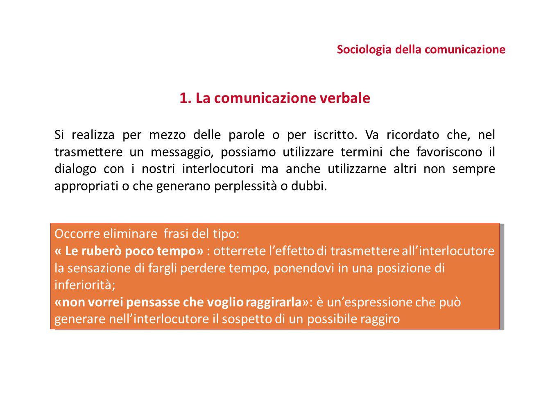 IL MODELLO DI COMUNICAZIONE MODELLO ONE TO ONE Implica un flusso comunicativo a due vie, personalizzato, interattivo tra una fonte ed un singolo destinatario MODELLO ONE TO MANY Comporta un contatto a distanza, tramite un mezzo, tra una fonte e una pluralità di soggetti MODELLO MANY TO MANY Prevede un'interazione tra una pluralità di soggetti, che scambiano tra loro informazioni, creando contenuti, tipicamente in un contesto mediato dalla tecnologia (forum, newsgroup, comunità virtuali) Sociologia della comunicazione