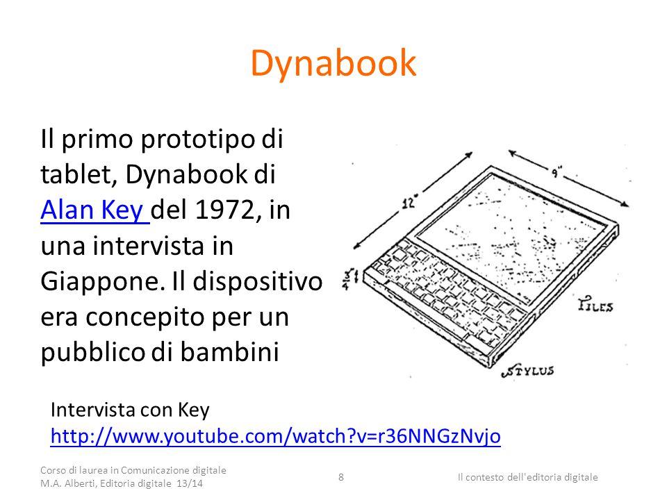 Dynabook Il primo prototipo di tablet, Dynabook di Alan Key del 1972, in una intervista in Giappone.
