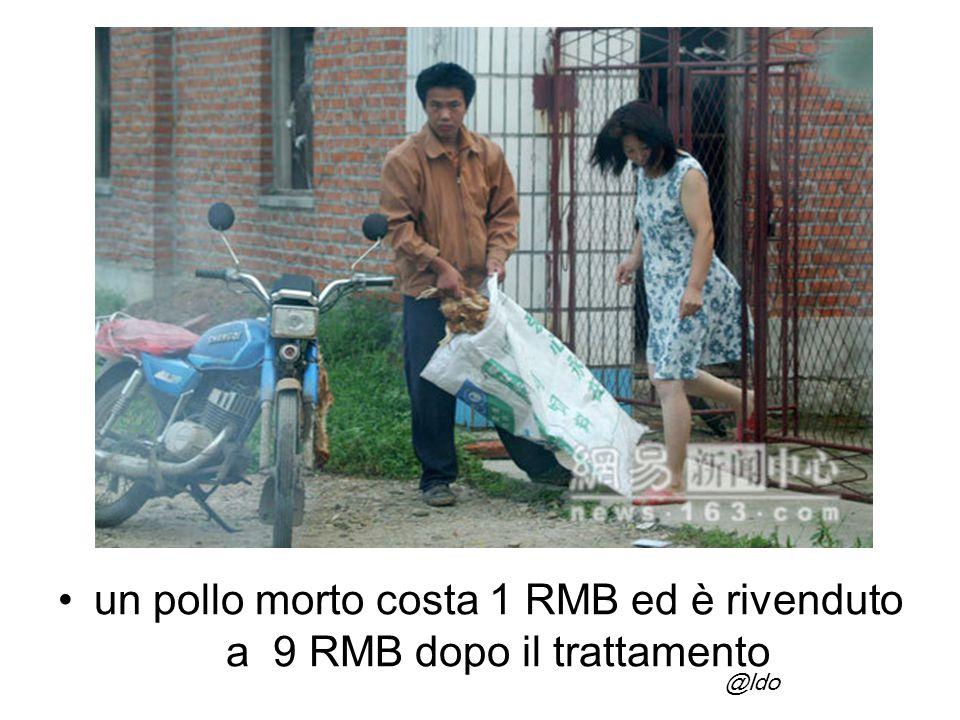 un pollo morto costa 1 RMB ed è rivenduto a 9 RMB dopo il trattamento @ldo