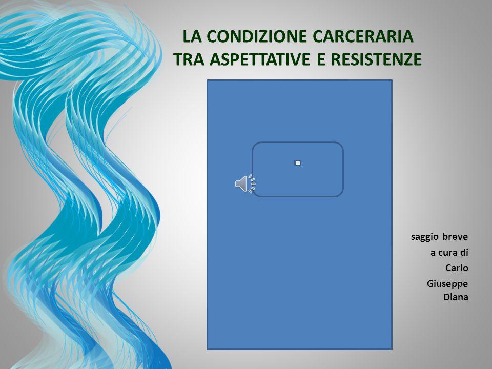 LA CONDIZIONE CARCERARIA TRA ASPETTATIVE E RESISTENZE 3 3 saggio breve a cura di Carlo Giuseppe Diana