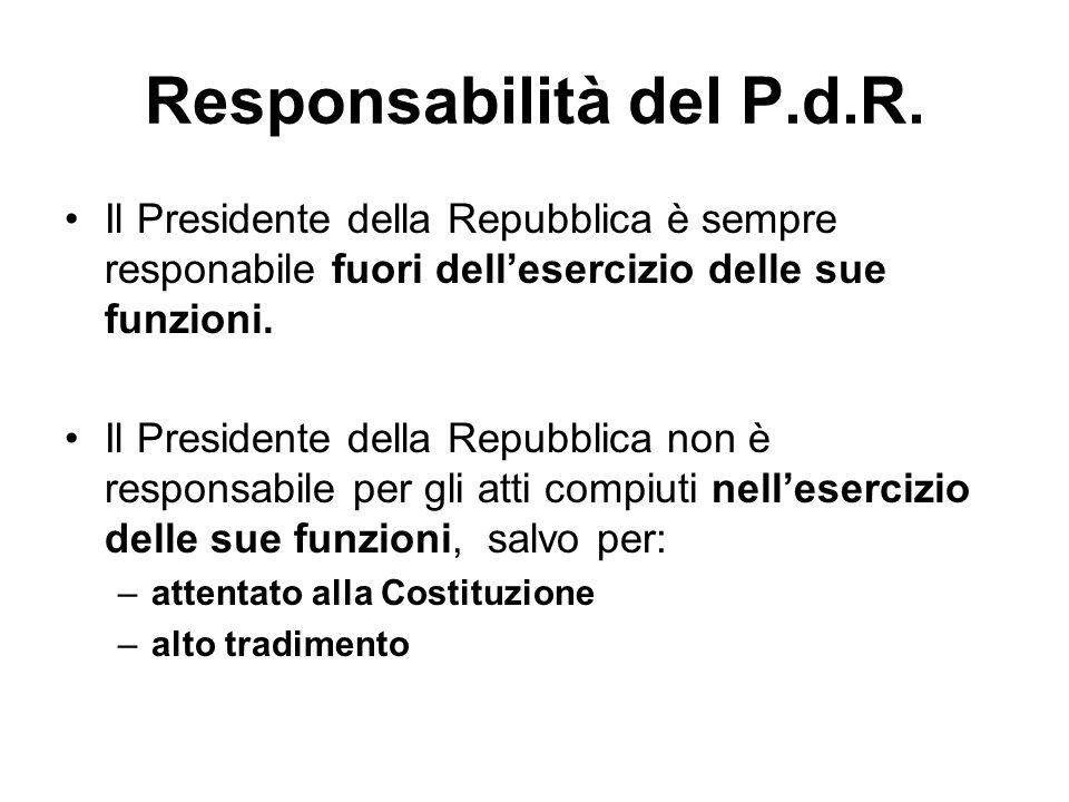 Responsabilità del P.d.R.