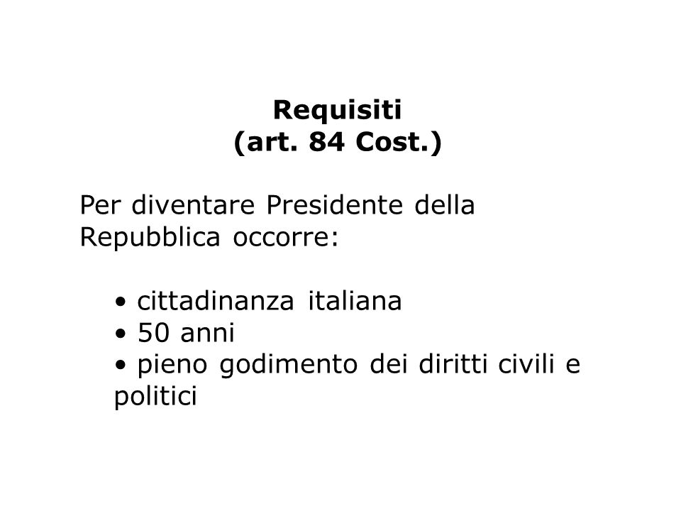 Requisiti (art.