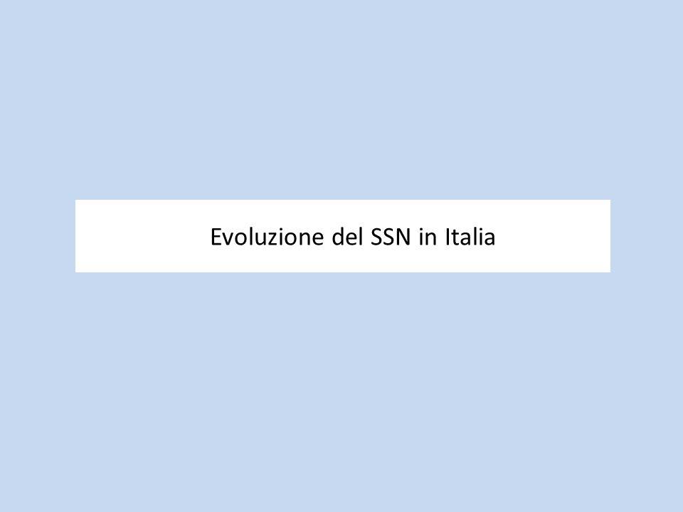 Evoluzione del SSN in Italia