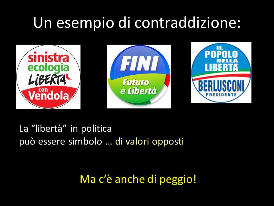 """Un esempio di contraddizione: Ma c'è anche di peggio! La """"libertà"""" in politica può essere simbolo … di valori opposti"""