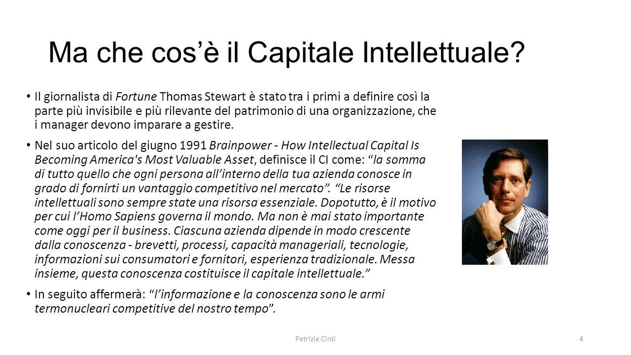Ma che cos'è il Capitale Intellettuale? Il giornalista di Fortune Thomas Stewart è stato tra i primi a definire così la parte più invisibile e più ril