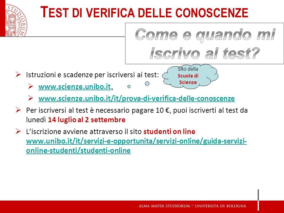  No, se sei risultato sufficiente ad un test TOLC (>9/31)  No, se hai sostenuto lo stesso test presso un altro Ateneo; la certificazione attestante il risultato dovrà essere presentata alla Segreteria Studenti della Scuola.