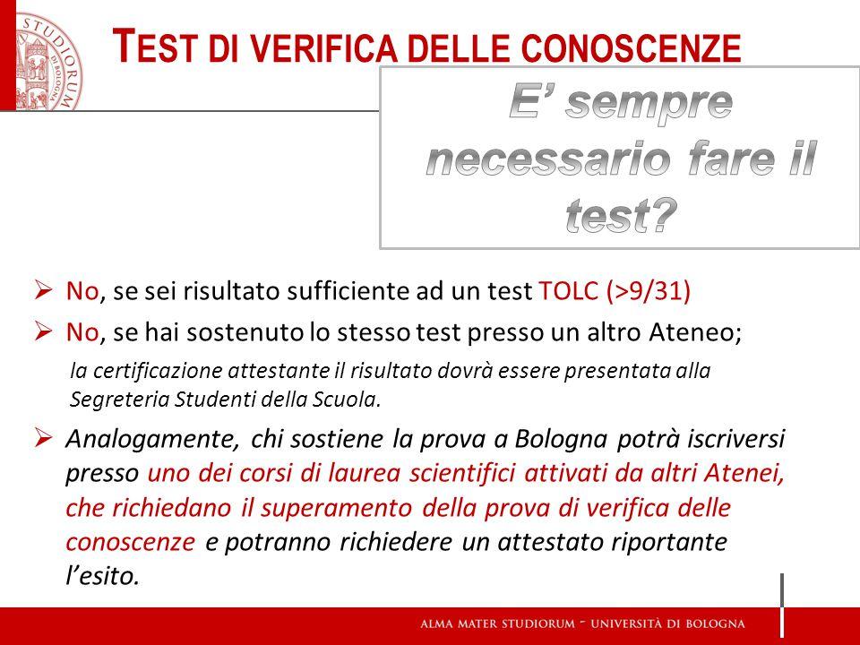 Il TEST si svolgerà:  Bologna: 8 - 9 settembre 2014 - Ore 9.00 - Presso il Laboratorio C - Via Filippo Re, 2/II  Ravenna: 9 settembre 2014 - Ore 9.00 - Presso il Laboratorio di informatica - Via dell Agricoltura, 5  Rimini: 11 settembre 2014 - Ore 9.00 - Presso RED-LAB - Via Angherà, 22 (primo piano)  Il test potrà essere effettuato a Bologna, Rimini o Ravenna indipendentemente dal Corso di Laurea a cui vuoi iscriverti.