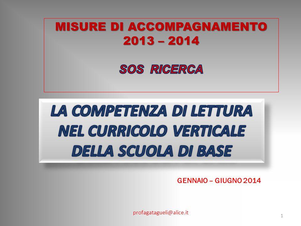 profagatagueli@alice.it GENNAIO – GIUGNO 2014 1