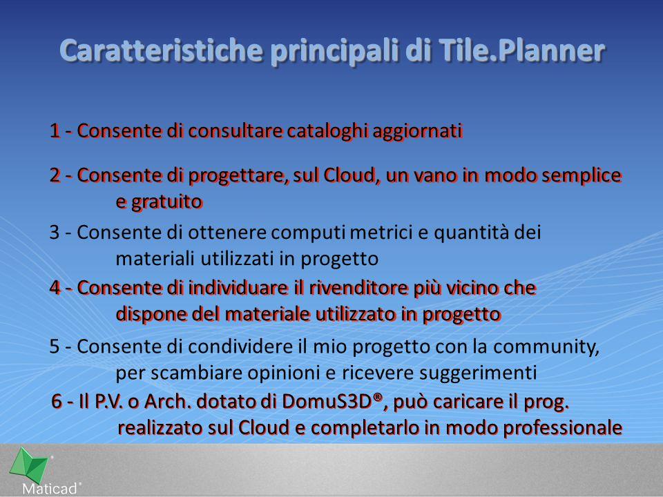 6 - Il P.V. o Arch. dotato di DomuS3D®, può caricare il prog. realizzato sul Cloud e completarlo in modo professionale 2 - Consente di progettare, sul