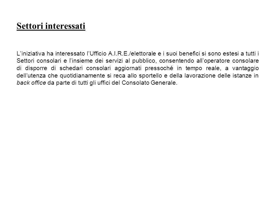 Situazione antecedente alla realizzazione del progetto Le dichiarazioni di iscrizione nello schedario consolare ex L.