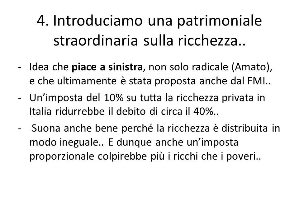 -Idea che piace a sinistra, non solo radicale (Amato), e che ultimamente è stata proposta anche dal FMI..
