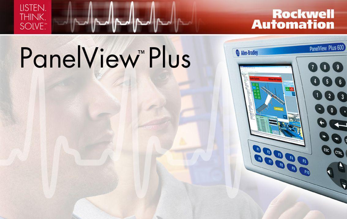 PanelView Plus permette di monitorare, controllare e visualizzare graficamente le informazioni Display LCD da 4 ″ a 15 ″ Memorizzazione e riutilizzo dei dati in qualsiasi punto del sistema