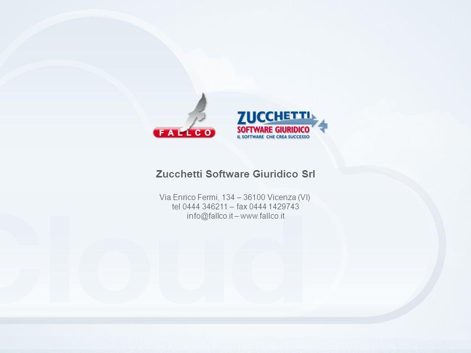 Zucchetti Software Giuridico Srl Via Enrico Fermi, 134 – 36100 Vicenza (VI) tel 0444 346211 – fax 0444 1429743 info@fallco.it – www.fallco.it