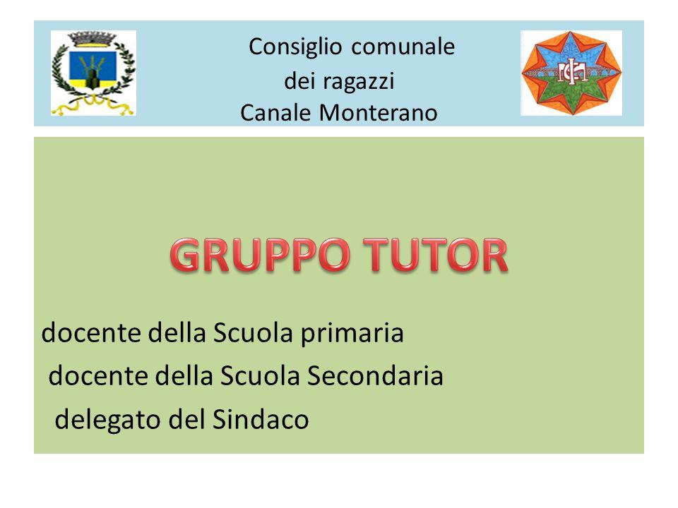 docente della Scuola primaria docente della Scuola Secondaria delegato del Sindaco Consiglio comunale dei ragazzi Canale Monterano