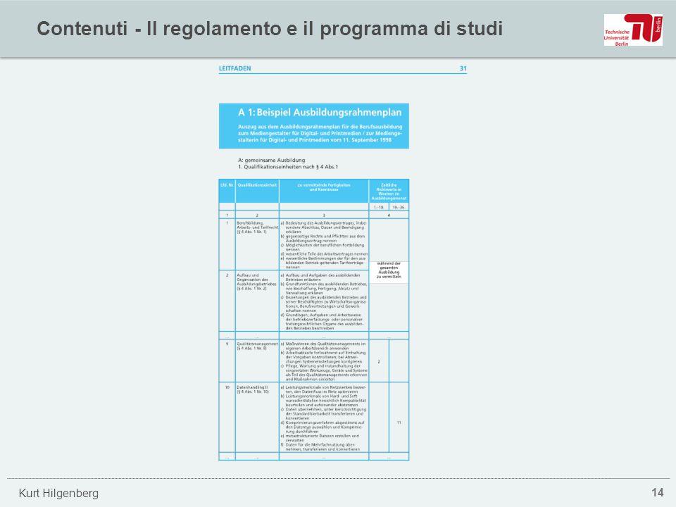 Kurt Hilgenberg Contenuti - Il regolamento e il programma di studi 14