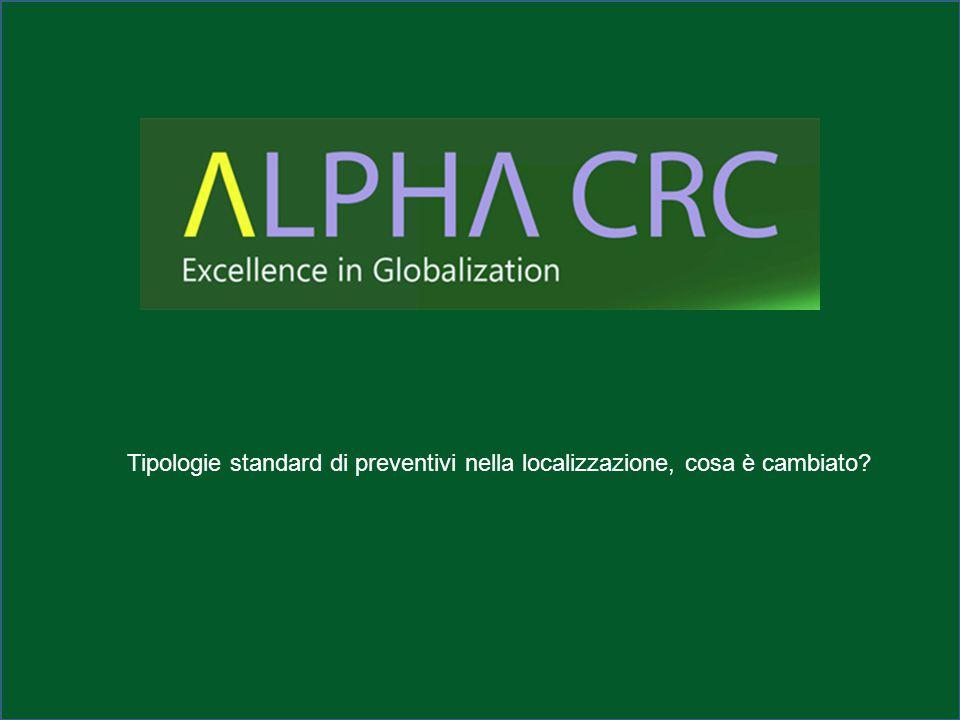 Tipologie standard di preventivi nella localizzazione, cosa è cambiato