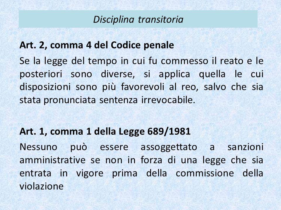 Disciplina transitoria Art.