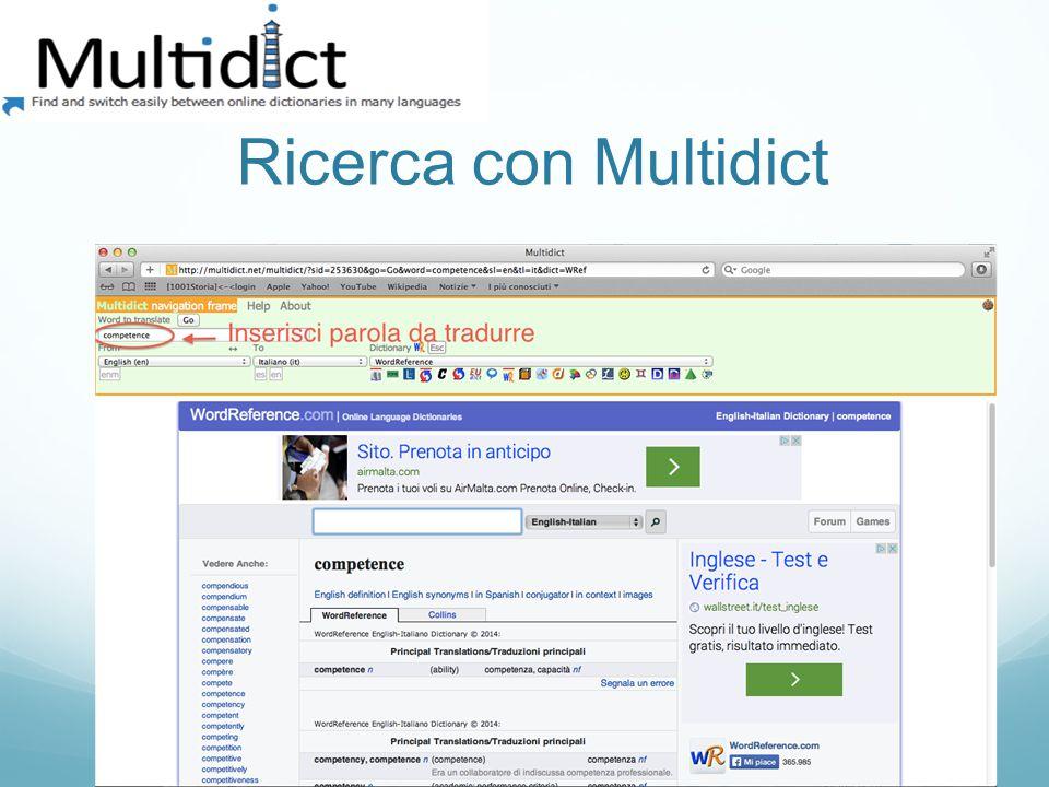 Ricerca con Multidict
