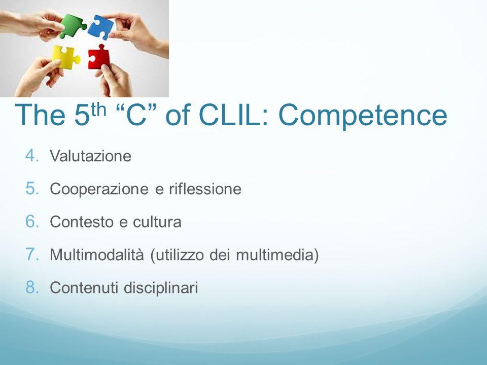 The 5 th C of CLIL: Competence 4.Valutazione 5.