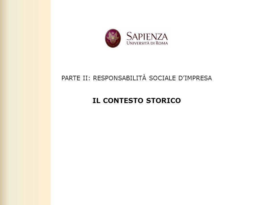 Facoltà di Scienze politiche, sociali e della comunicazione – A.A. 2010-2011 | Rresponsabilità sociale d'impresa | Prof. Claudio Cipollini PARTE II: R