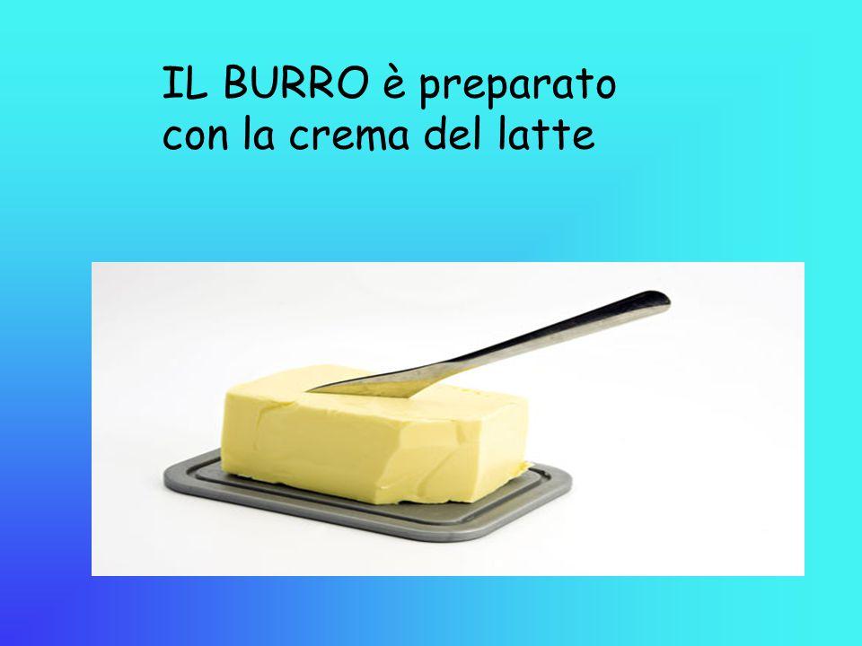 IL BURRO è preparato con la crema del latte